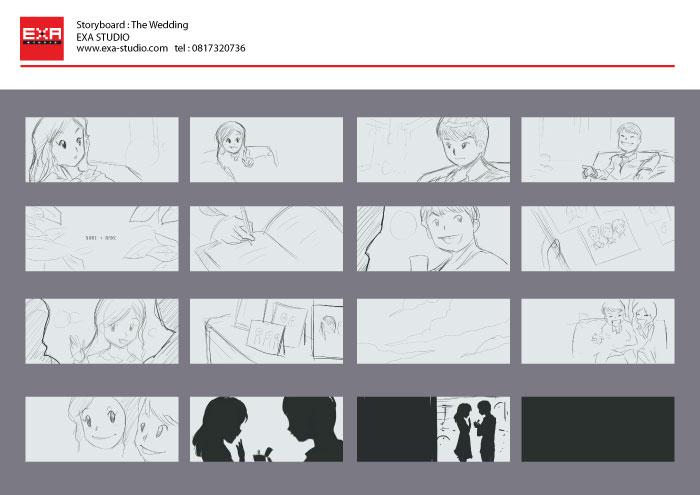 pook jo wedding presentation storyboard